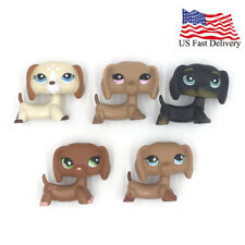 5Pcs/bag littlest pet shop toys old lps dogs Dachshund #1491 #932 #325 #556 #518