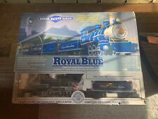 BACHMANN BIG HAULERS ROYAL BLUE G SCALE TRAIN SET W/ OG BOX