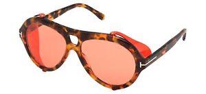 Tom Ford NEUGHMAN FT 0882 Red Havana/Burgundy Pink 60/15/145 men Sunglasses
