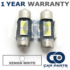 2X WHITE CANBUS NUMBER PLATE INTERIOR 2 SUPER BRIGHT SMD LED BULBS 30MM 06WX2