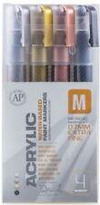 Montana ACRÍLICO ROTULADOR Pen Set - 0.7MM marcadores Extra Fino - 4 Colores Metálicos