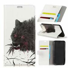 Popular Owl Bear Flowers Wolf Patterned Flip Wallet Card Leather Case For Htc