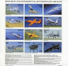 Palau 1995 estampillada sin montar o nunca montada Res & aviones experimentales Jet impulsado 12v m/s Tupolev sellos