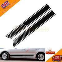Black Car Racing Stripe Decals Vinyl Side Stickers For Car Door Lower Panel