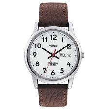 Timex T20041 Reloj para hombre Blanco Marrón lector fácil RRP £ 49.99