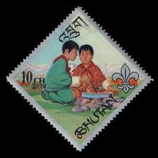 BHUTAN 86A - Boy Scouts at Campfire (pf84305)