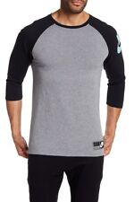 Nike Sportswear 3/4 Sleeve Heavyweight Raglan Crew Black Gray New Large