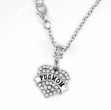 Pug Mom chain PugMom Necklace Dog Gift charm present Pendent Pug Mom best gift