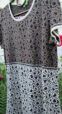 HIMALAYA Strickkleid Kleid Tunika Jacquard Organic Bio Baumwolle L 40  Fairtrade
