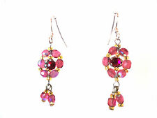 ELEGANT LADIES  PINK SPARKLING FLOWER EARRING BRAND NEW UNIQUE STUNNING (A15)