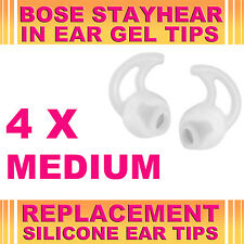4x Silicone Replacement Medium Ear Gel Tips for Bose StayHear Earphone Headphone