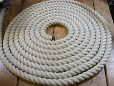 25 METRES X 24 MM  SYNTHETIC/POLY HEMP ROPE FOR DECKING/GARDENS/BANNISTER ROPES