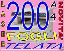 200 FOGLI Carta 170gr EFFETTO TELA X stampante laser A4