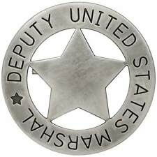 UNITED STATES US DEPUTY MARSHAL BADGE - COWBOY SHERIFF/RANGER WILD WEST **NEW**