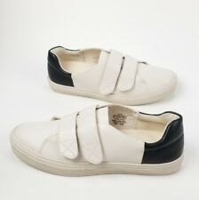 Nine West Oleandro Hook Strap Fashion Sneakers 303, Off White/Black, 8 US