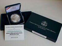 1994 W Women in Military Service BU Silver Dollar Commemorative Coin Box and COA