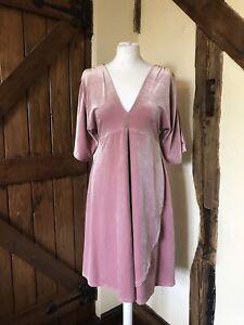 ASOS Maternity Dress - Size 14 - Pink Velvet - Autumn Dress - BNWT - Party Wear