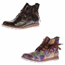 Ladies Ankle Boots Faux Leather Ankle Shoes Sun & Shadow Boots Multicoloured