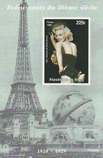 MARILYN MONROE Showgirl pongono TORRE EIFFEL imperforated MNH STAMP SHEETLET