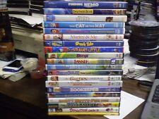 .(21) Childrens Animal DVD Lot: Disney Finding Nemo  Brother Bear  Marley & Me