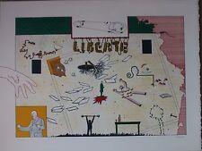 Lithographie de Jan VOSS signée numér. liberté 1969 Maeght Figuration narrative