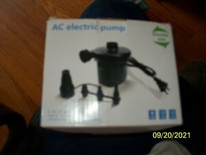 Electric A/C110-120V air pump inflator for Raft Float Bed pool & toy NIB
