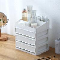 Desktop Plastic Cosmetic Makeup Jewelry Storage Organizer Drawer Case Box Room
