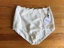 Marysia Palm Springs High-Waist Bikini Bottom S Small 4 6 White Ivory JCrew NEW