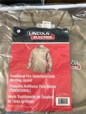 ~ Lincoln Electric Fire Retardant Welding Jacket Xl X-Large Khaki Kh840Xl