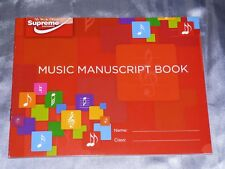 A5 MUSIC MANUSCRIPT BOOK 24 PAGES WRITING MUSIC THEORY NOTES SONG 6 STAVES PIANO
