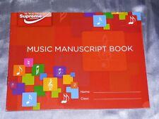 A5 MANOSCRITTO musica libro 24 pagine di scrivere le note di teoria musicale canzone 6 BOTTI Pianoforte