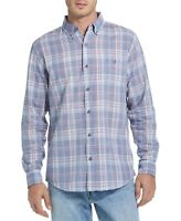 Weatherproof Mens Shirt Peony Blue Size 2XL Button Down Woven Plaid $60 157