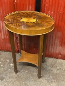 Vintage Hekman Furniture Copley Oval Accent End Table Mahogany Cherry 5-4172