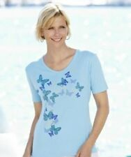 Julipa Jersey Top With butterfly DK548 Baby Blue UK Size 20 Box1310 L