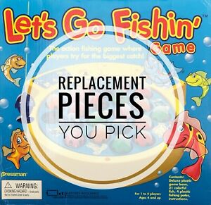 Let's Go Fishin' Replacement Game Parts 1997 - 2006 You Pick Fish / Fishing Pole