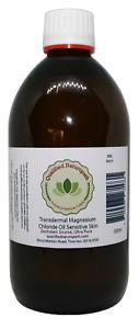 525ml Transdermal Magnesium Chloride Oil Sensitive Skin *Zechstein sourced*