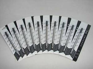 10 x JINHAO Black Roller ball Pen Refill Push Type 0.5 mm