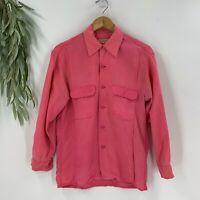 Equipment Womens Silk Blouse Size Small S Pink Button Down Shirt Top Long Sleeve