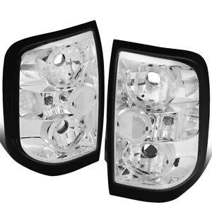 Fit 96-04 Nissan Pathfinder/Infiniti QX4 Chrome Housing Tail Light Brake Lamps
