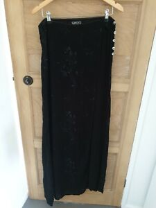 Vintage Ghost Size 14 Trousers & Skint In One Floral Embroidery Long Maxi Skirt