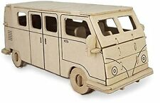Camper Van: Woodcraft Quay Construction Wooden 3D Model Kit P321 Age 7 plus