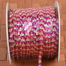 Sequin Trim String Round Sequins Sewing Craft Costume DIY Crafts 6mm 10M