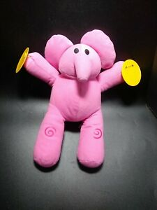 Pocoyo Musical Plush Characters Squeeze n Play Elly Bandai pink elephant Cymbals