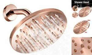 Copper Shower Head High Pressure Rain Shower Head Round Vintage Retro Bathroom