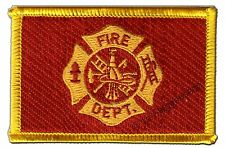 Stati UNITI US Fire Department ricamate Bandiera Bandiere Patch aufbügler 8x6cm