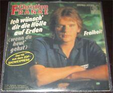 """Christian Franke, Ich wünsch dir die Hölle auf Erden, VG-/VG++ 7"""" Single 0855-3"""