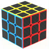 3x3x3 Magic Cube Carbon Fiber Sticker Professional Speed Cube Puzzle Twist Toy
