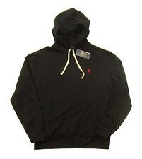 Polo Ralph Lauren Men's Black Cotton Blend Fleece Lined Pullover Hoodie