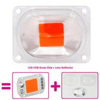 20/30/50W LED COB Chip Grow Light Plant Grow Full Spectrum+Lens Reflector Lamp