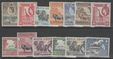 KENYA, UGANDA & TANGANYIKA SG167/79 1954-9 DEFINITIVE SET TO 10/= MTD MINT